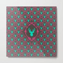 Oh Deer (teal dark) Metal Print