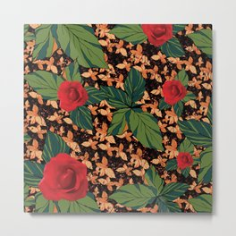 rose with dandelion - variant Metal Print