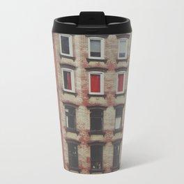 New York Apartments Metal Travel Mug