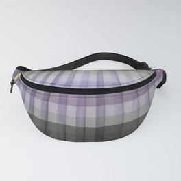 Purple Lavender Gray Pleated Stripes Fanny Pack