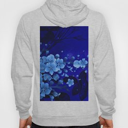 Cherry blossom, blue colors Hoody