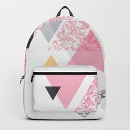 Multi Triangle - Rose Gold and Marble Backpack