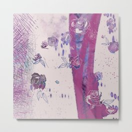 Freshly Undone - Abstract Floral Metal Print