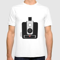 Kodak Brownie Camera White Mens Fitted Tee MEDIUM