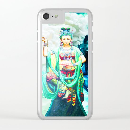 The Goddess of Mercy Clear iPhone Case