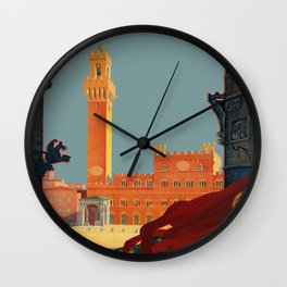 Tuscany - Siena Italy - Vintage Travel Wall Clock