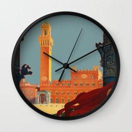 Tuscany - Siena Italy - Vintage Travel Wall Clock