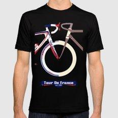 Tour De France Mens Fitted Tee LARGE Black