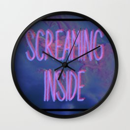 Screaming Inside - Aesthetic Vaporwave Wall Clock