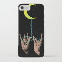 the moon iPhone & iPod Cases featuring MOON by GENO