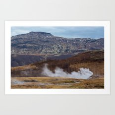 Iceland is on Fire Art Print