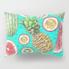 Tropical Tastes in Turquoise Pillow Sham