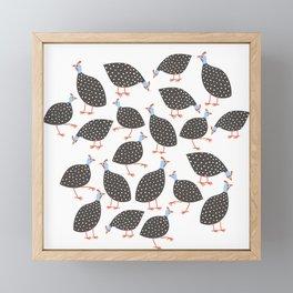 Guinea Hens Framed Mini Art Print