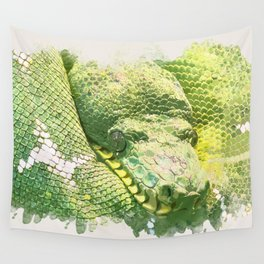 Green snake Wall Tapestry