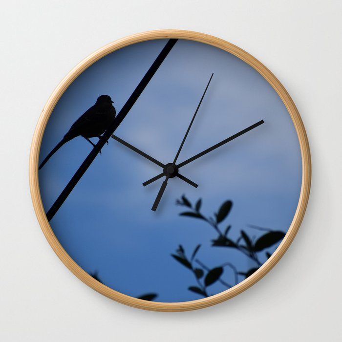 Bird Silhouette Wall Clock