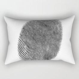 Finger print design Rectangular Pillow