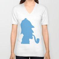 sherlock holmes V-neck T-shirts featuring Sherlock Holmes by ialbert