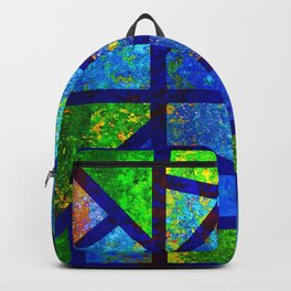 Art Deco Colorful Stained Glass Mosaic Backpack
