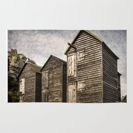 Fishermens Huts at Hastings Rug