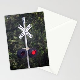 Railroad Crossing Warning Signal Stationery Cards