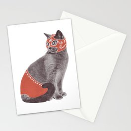 Cat Wrestler Stationery Cards