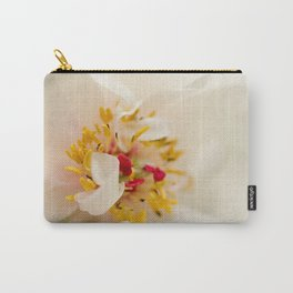 Eye of Peony Nature / Botanical / Floral Photograph Carry-All Pouch