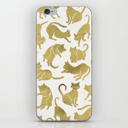 Cat Positions – Gold Palette iPhone Skin