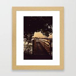 Colorado Pier Sunset Framed Art Print