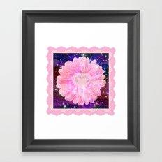Pink flower with sparkles  Framed Art Print