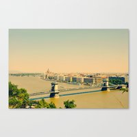 budapest Canvas Prints featuring Budapest  by Arevik Martirosyan