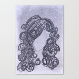 Girl with Curly Hair Canvas Print