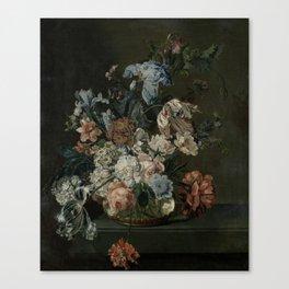 Still Life with Flowers, Cornelia van der Mijn, 1762 Canvas Print