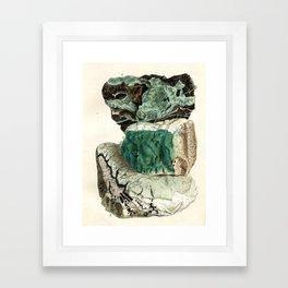 Vintage Mineralogy Illustration Framed Art Print
