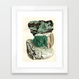 Vintage Mineralogy Illustration Framed Art Print
