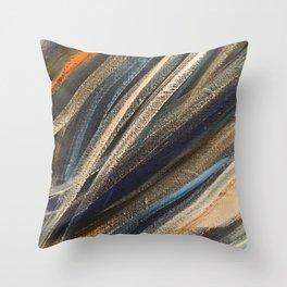 Dark Brushstrokes Painting Throw Pillow