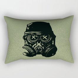 Gas mask skull Rectangular Pillow
