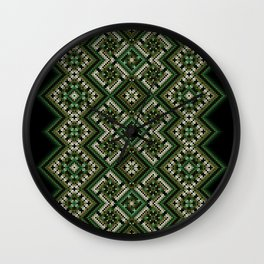 solar stamp / rhythm life. Divinely psychedelic ornament Wall Clock