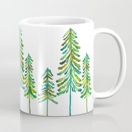 Pine Trees – Green Palette Coffee Mug