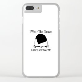 I Wear The Cheese Clear iPhone Case