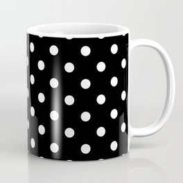 Classic Black & White Polka Dots Pattern Coffee Mug