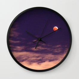 The blood moon eclipse Wall Clock
