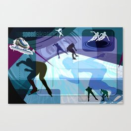 Speed Skating Canvas Print