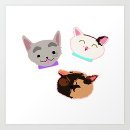 A Trio of Good Girls Art Print