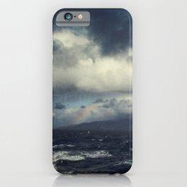 Wild Ocean with Rainbow iPhone Case