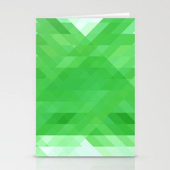Green Geometrics Stationery Cards