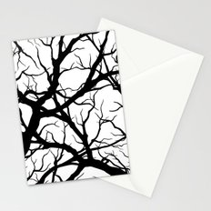 Black n White branche Stationery Cards