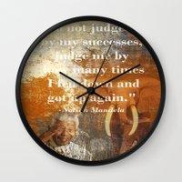mandela Wall Clocks featuring Mandela 2 by Shalisa Photography