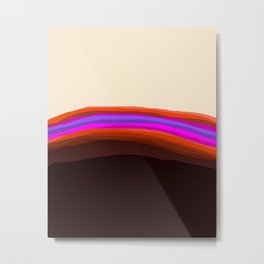 Orange, Purple, and Cream Abstract Metal Print