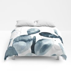 Indigo Paddle Cactus Comforters