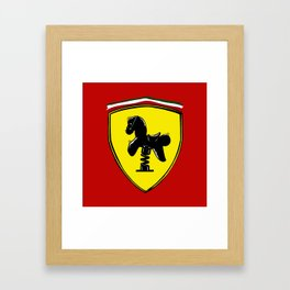 Ferrari cute Framed Art Print
